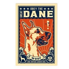 Obey the Great Dane! Postcards (Package of 8)