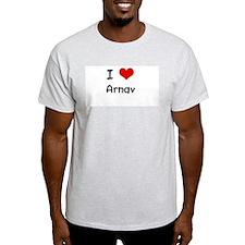 I LOVE ARNAV Ash Grey T-Shirt