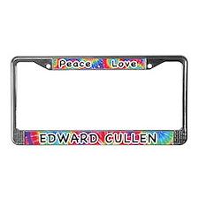 Peace Love Edward Cullen License Plate Frame