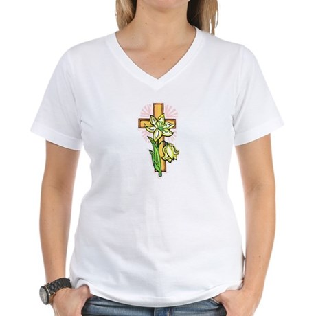 Pretty Easter Women's V-Neck T-Shirt