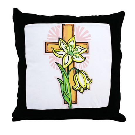 Pretty Easter Throw Pillow