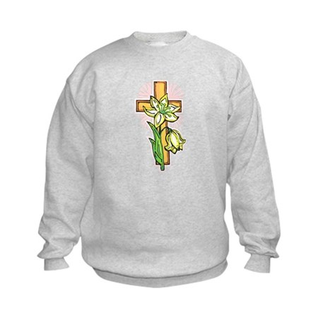 Pretty Easter Kids Sweatshirt