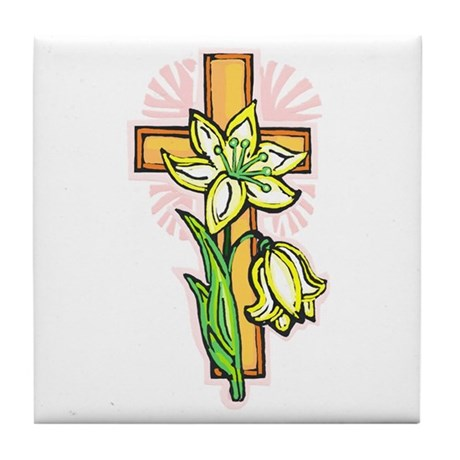Pretty Easter Tile Coaster