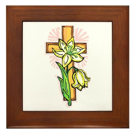 Pretty Easter Framed Tile