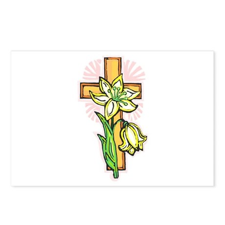 Pretty Easter Postcards (Package of 8)