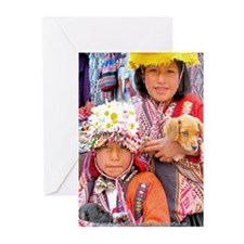 Sisters and Pup - Greeting Cards (Pk of 10)