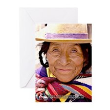 Quetchua Wise Woman - Greeting Cards (Qty: 6)