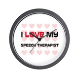 I Love My Speech Therapist Wall Clock