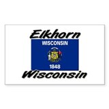 Elkhorn Wisconsin Rectangle Decal