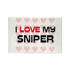 I Love My Sniper Rectangle Magnet (10 pack)