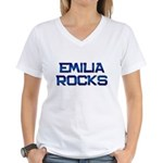 emilia rocks Women's V-Neck T-Shirt