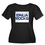 emilia rocks Women's Plus Size Scoop Neck Dark T-S