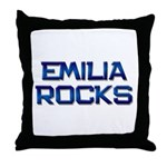 emilia rocks Throw Pillow