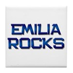 emilia rocks Tile Coaster