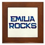 emilia rocks Framed Tile