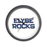 elyse rocks Wall Clock