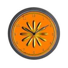 Orange and Gold Wall Clock