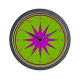 Purple and Green Wall Clock