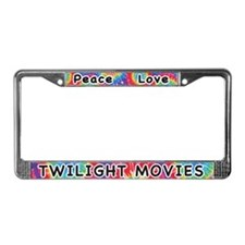 Peace Love Twilight Movies License Plate Frame