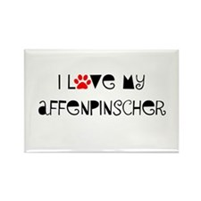 I Love My Affenpinscher Rectangle Magnet