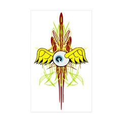 Flying Eye Rectangle Sticker 50 pk)
