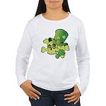 Skull & Shamrocks Women's Long Sleeve T-Shirt