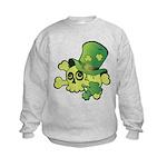 Skull & Shamrocks Kids Sweatshirt