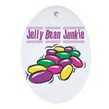Jelly Bean Junkie Oval Ornament