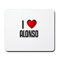 I LOVE ALONSO Mousepad