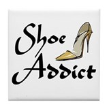 Shoe Addict Tile Coaster