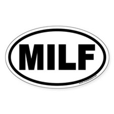 MILF Euro Oval Decal
