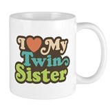 I Love My Twin Sister Small Mug