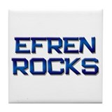 efren rocks Tile Coaster
