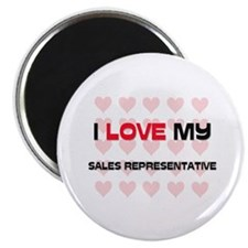 I Love My Sales Representative Magnet