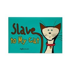 Cat Slave Rectangle Magnet