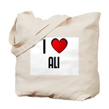 I LOVE ALI Tote Bag