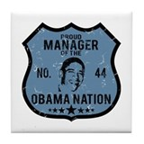 Manager Obama Nation Tile Coaster