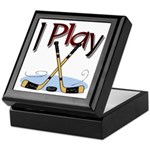 I Play Hockey Keepsake Box