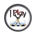 I Play Hockey Wall Clock