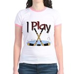 I Play Hockey Jr. Ringer T-Shirt