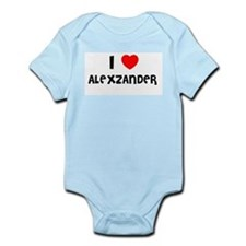 I LOVE ALEXZANDER Infant Creeper