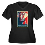 Vote Weimaraner! Women's Plus Size V-Neck Dark T-S