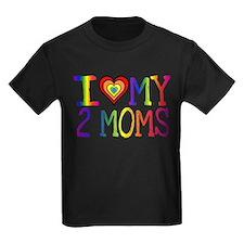 I <3 My 2 Moms T