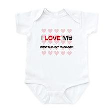 I Love My Restaurant Manager Infant Bodysuit