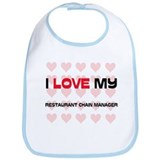 I Love My Restaurant Chain Manager Bib