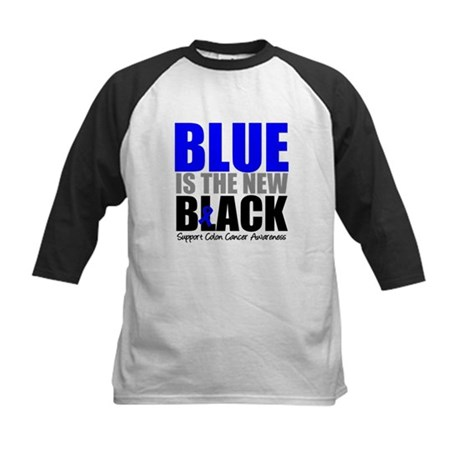 ColonCancerBlueisTheNewBlack Kids Baseball Jersey