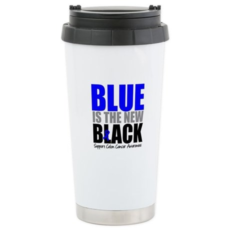 ColonCancerBlueisTheNewBlack Ceramic Travel Mug