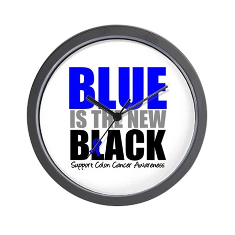 ColonCancerBlueisTheNewBlack Wall Clock