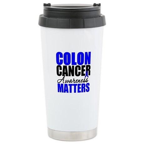 ColonCancerAwarenessMatters Ceramic Travel Mug