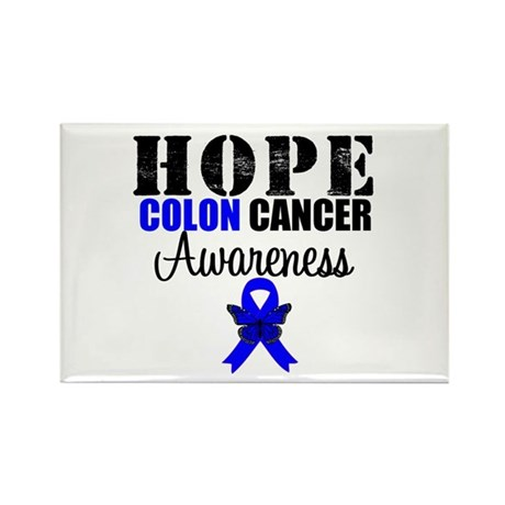 Colon Cancer Hope Rectangle Magnet